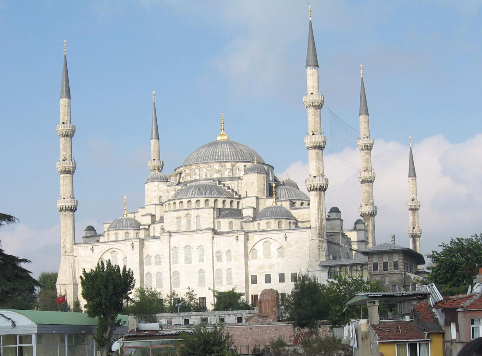 2007 Istanbul Blue Mosque from hotel balcony_edited