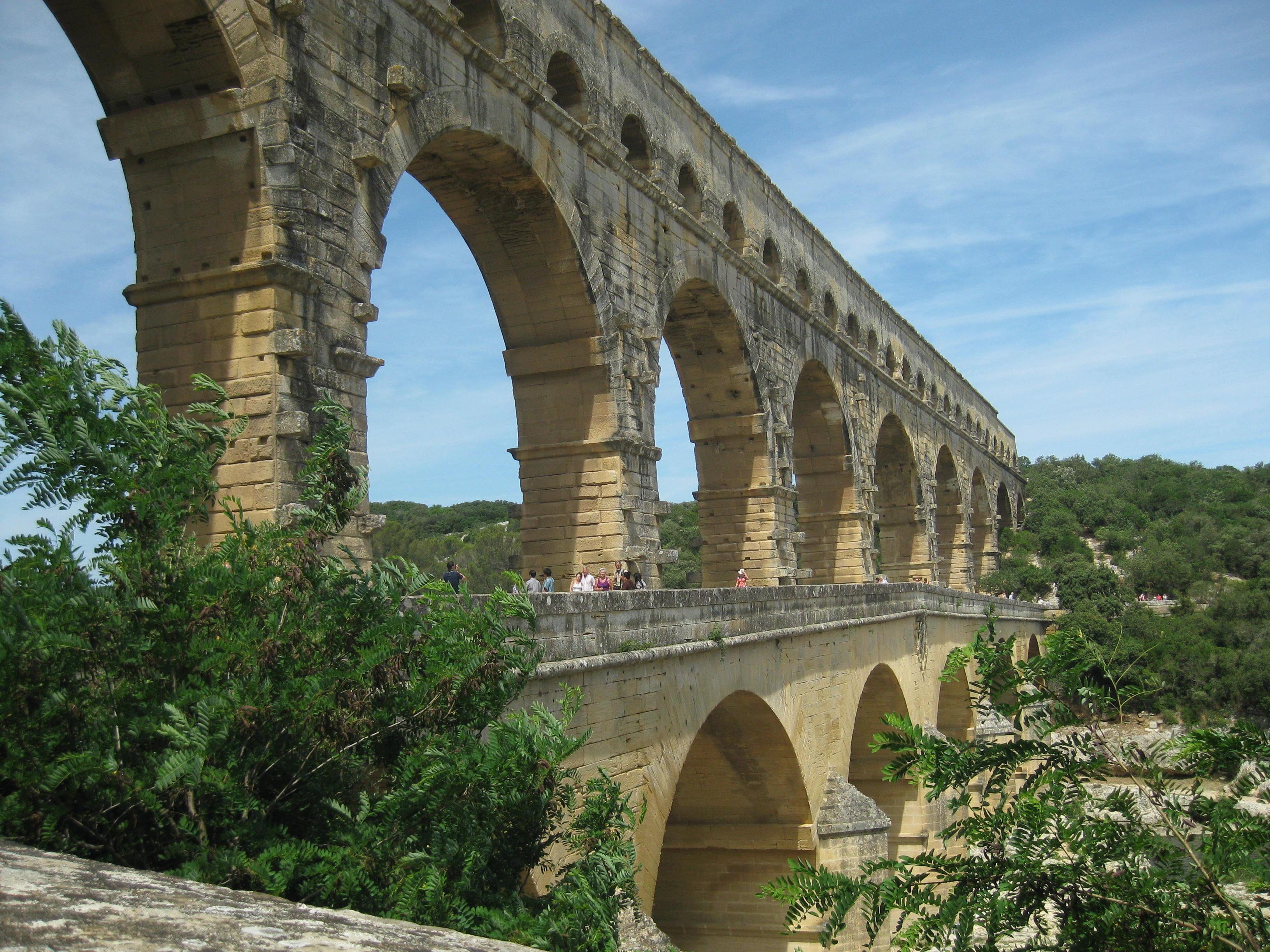 Pont du Gard viaduct Nimes Italy