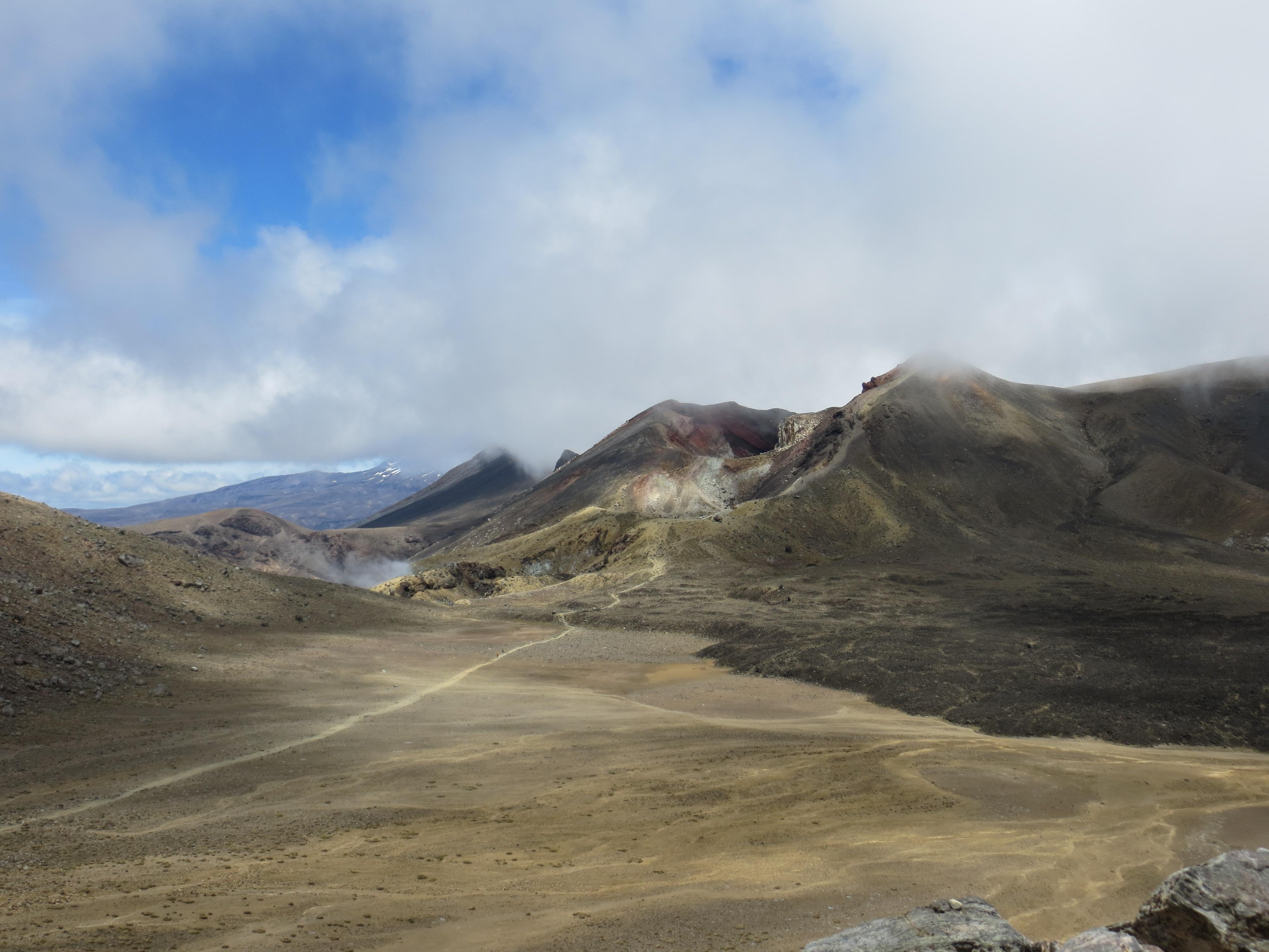 Tongariro hike best Doom and Mt Ruapehu left background 2017-01-07 182