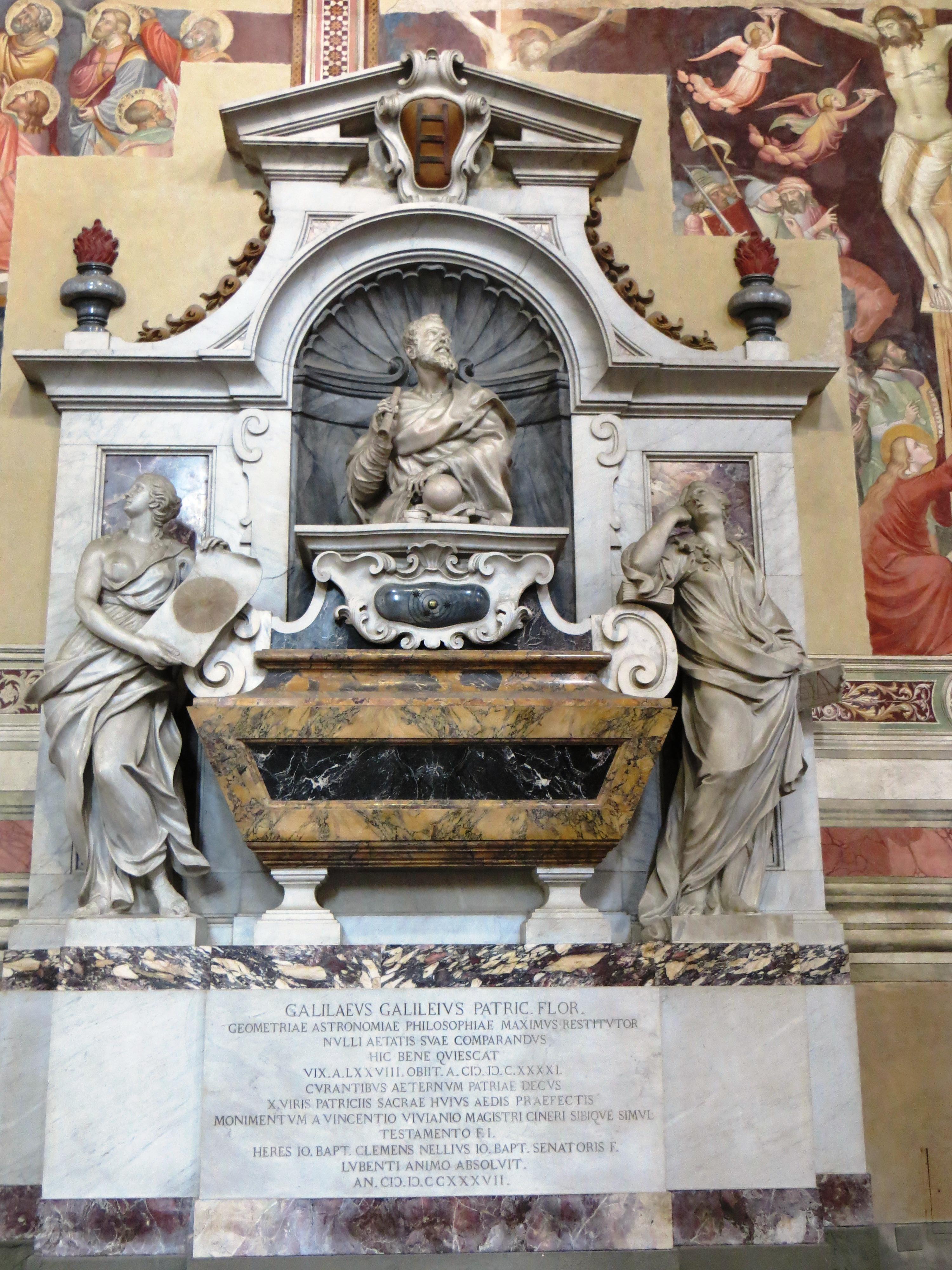 Galileo tomb Florence Santa Croce