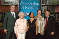 chirks with Barbara Bush and fam 2.11.12
