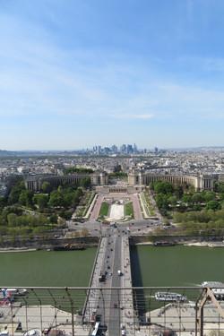 Paris 2018 overview best Trocadero from Eiffel Tower
