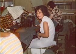 Grandma at sewing station