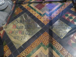 Dublin St. Patrick's Cathedral Jonathan Swift grave best dean of cathedral 1713-1745 best best 2017-