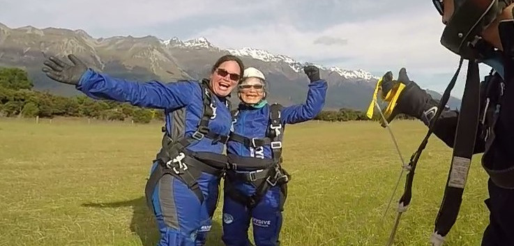 2019 skydiving Glenorchy New Zealand sec
