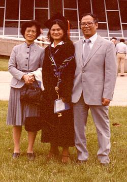 Family at MM U of I graduation 1981