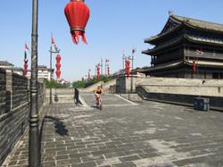 Xian ancient wall biking 8.7 miles around 2016-07-15 103