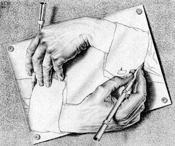 "M.C. Escher's ""Hands"""