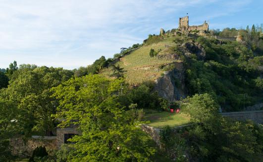 Au dessus de votre chambre, les vestiges du château de La Bâtie, édifié au XIIIè siècle.