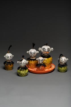 Raku Family (front view)
