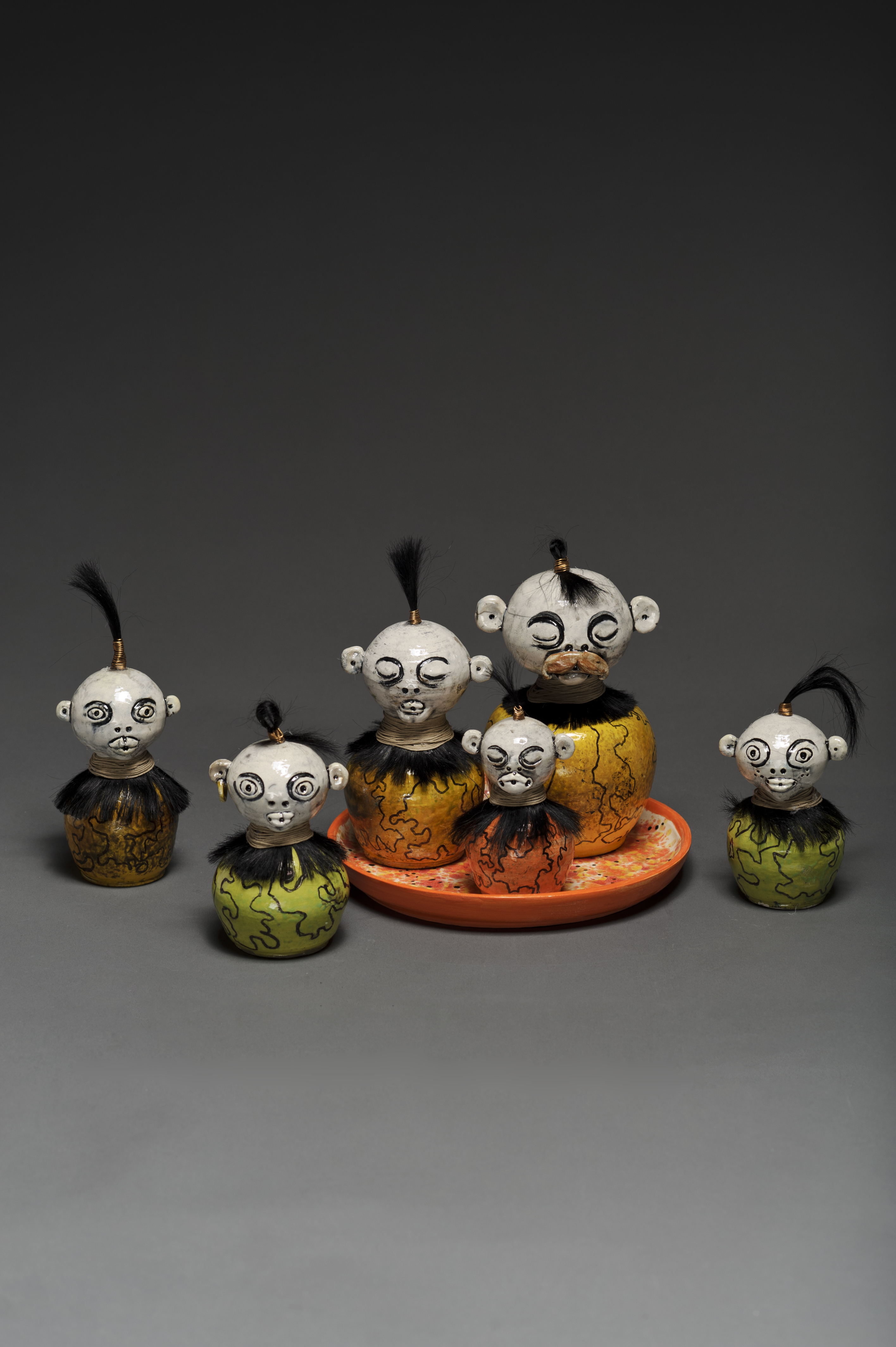 Raku Family (back view)