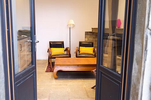 Petit salon de la chambre d'hôtes La Bâtie