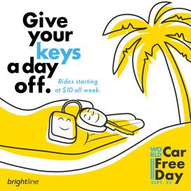 World Car Free Day digital ad