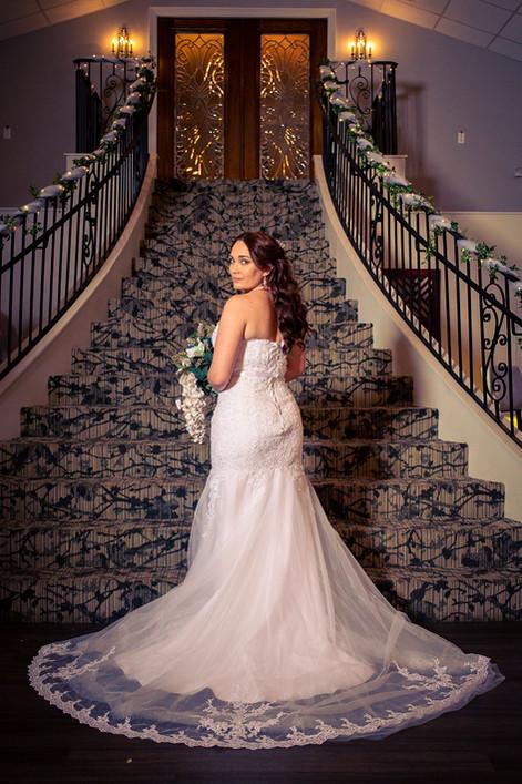 Bridal session after her wedding ceremony.