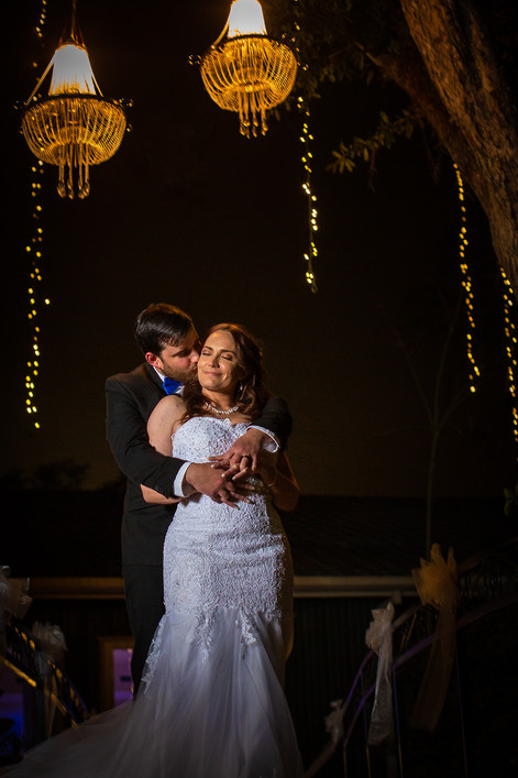 Groom embraces his Bride on Valentines Day
