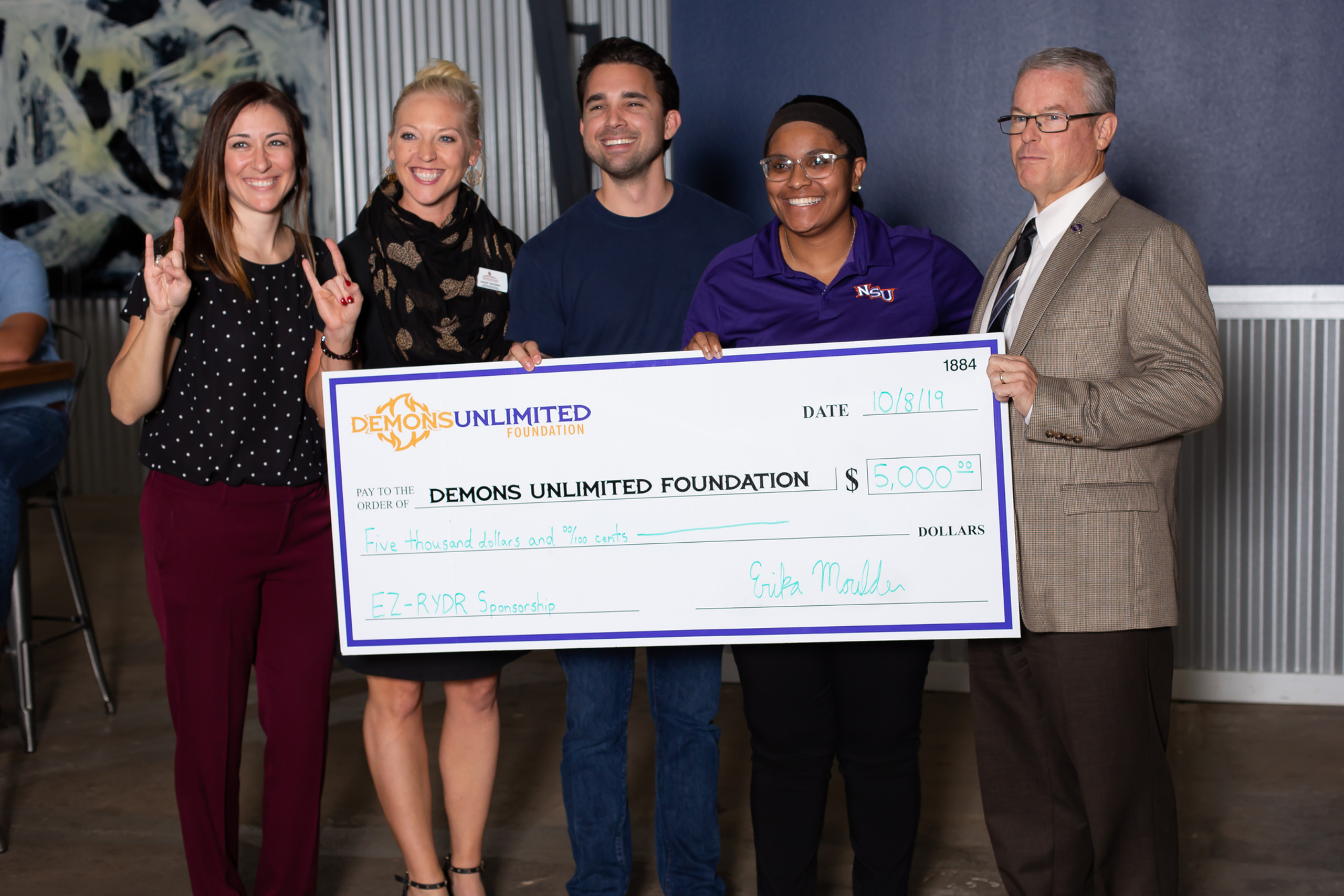 Demons Unlimited Foundation Donation