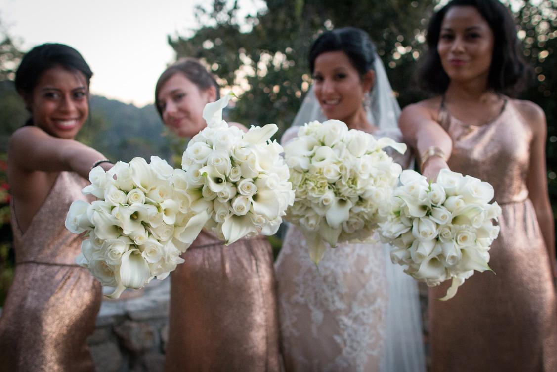 Carmel Wedding Bridal Party