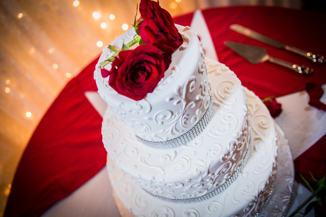 Wedding Cake at Victorville Reception