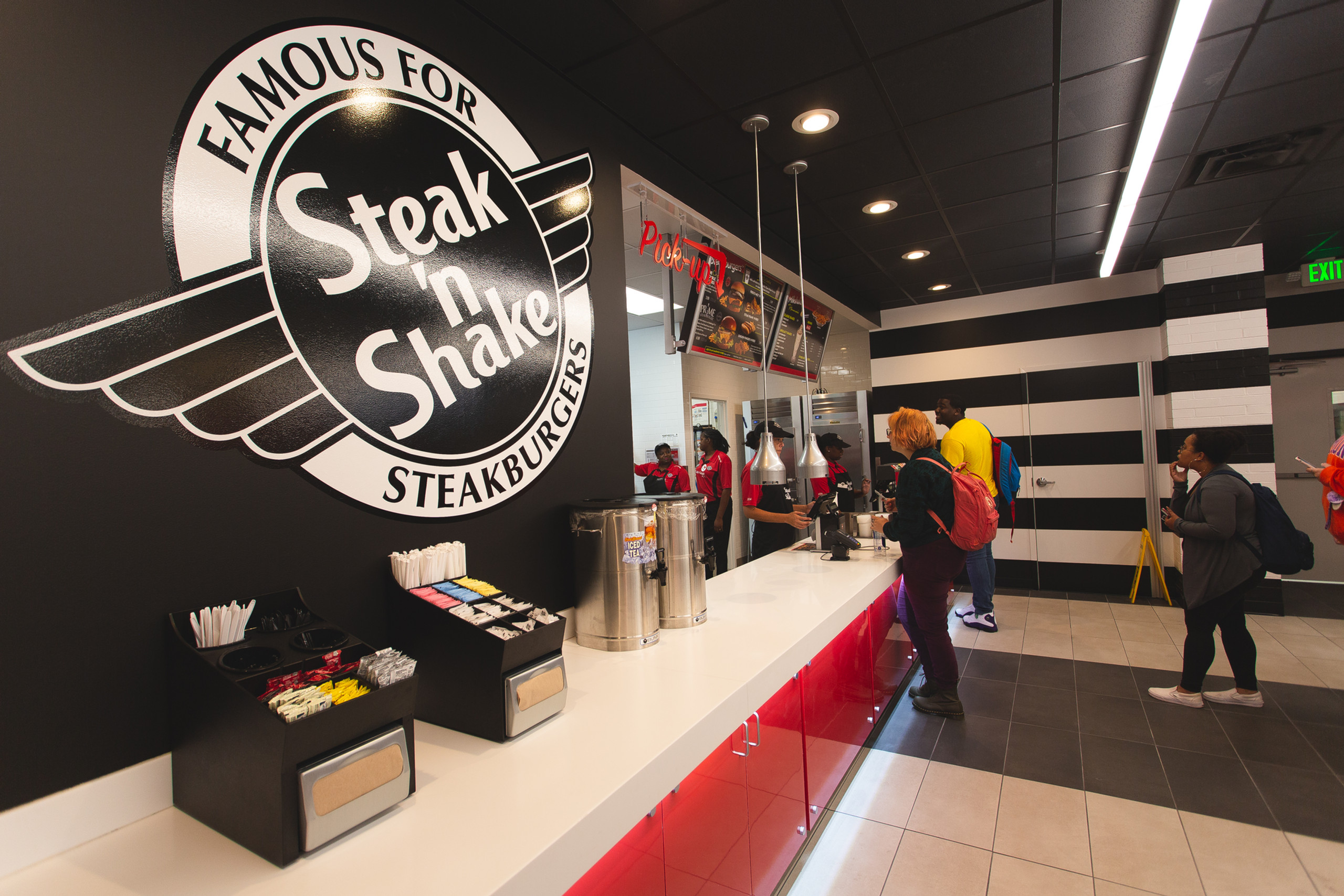 First group of customers at Steak 'n Shake at Northwestern State
