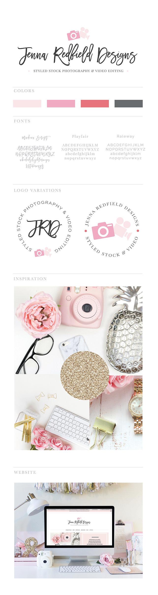 Logo Design for Jenna Redfield Designs, Branding