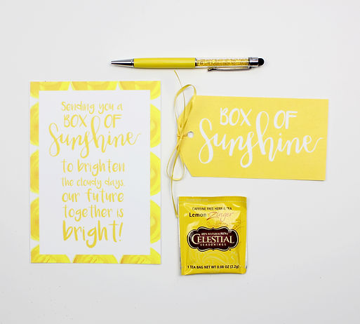 Custom Hand lettering, sunshine box