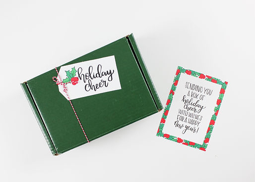 Custom Hand lettering, Holiday Box