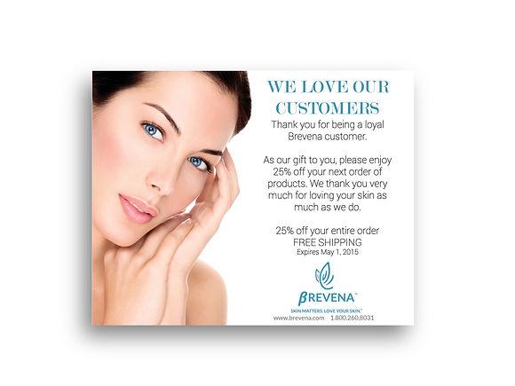Print design for brevena skin care