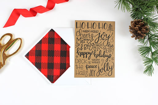 Custom Hand Lettering, Coprporate Holiday Card