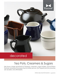 Decorated Teapots, Creamers & Sugars