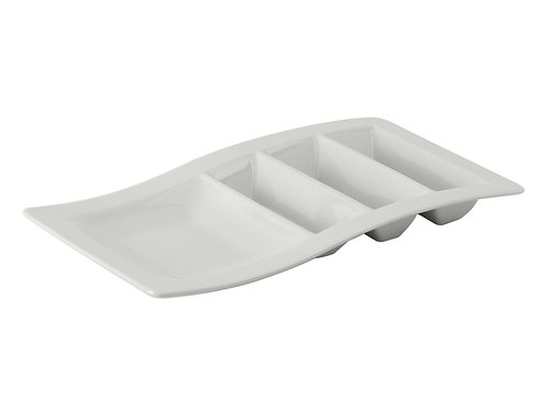 """Serving Pieces Taco Plate Stackable 14-5/8"""""""