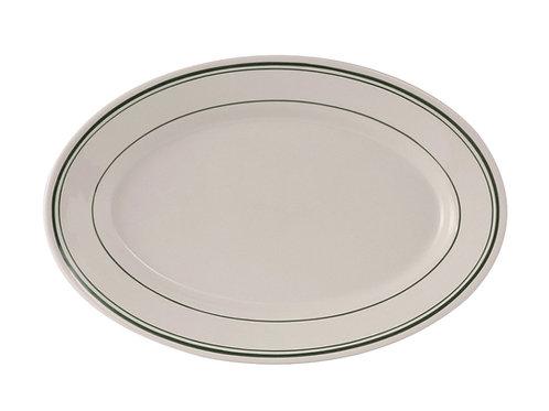 "Green Bay Oval Platter 13-1/2"""