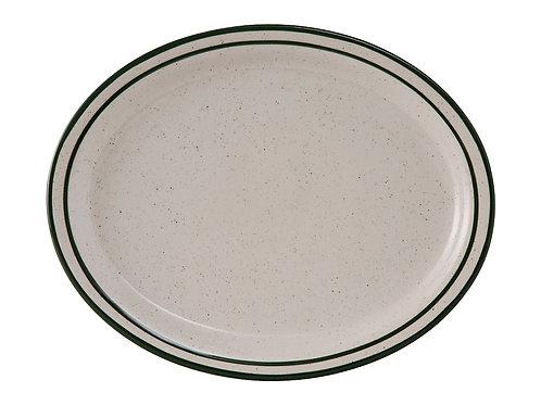 "Emerald Oval Platter 13-1/4"""