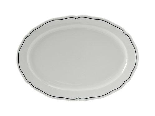 "Charleston Blue Band Oval Platter 12-1/2"""