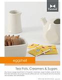 Eggshell Teapots, Creamers & Sugars