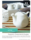White Teapots, Creamers & Sugars