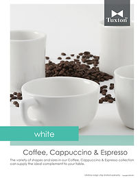 White Coffee, Cappuccino & Espresso