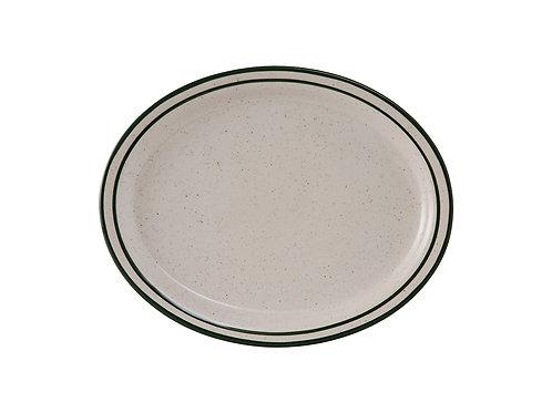"Emerald Oval Platter 9-1/2"""