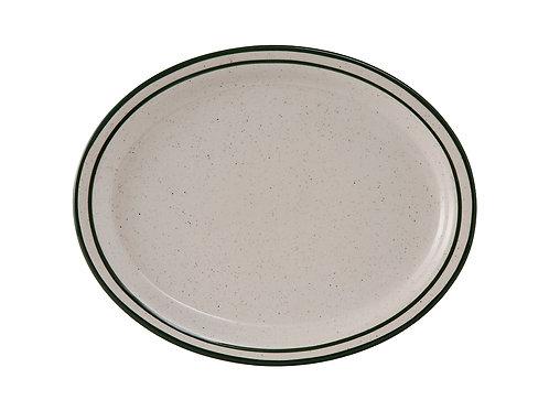 "Emerald Oval Platter 11-1/2"""