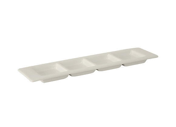 """Specialty Items 4 Compartment Plate 12-3/4"""""""