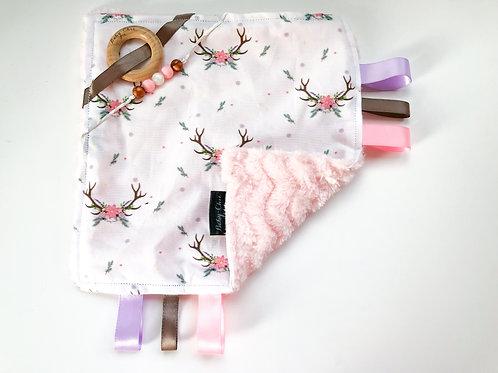 Sensory Taggie Blanket - Floral Antler