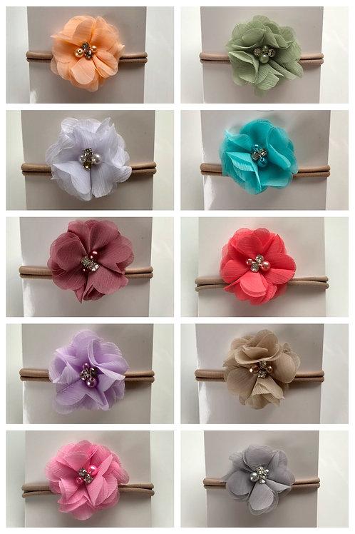 Baby Headbands - Chiffon Flower