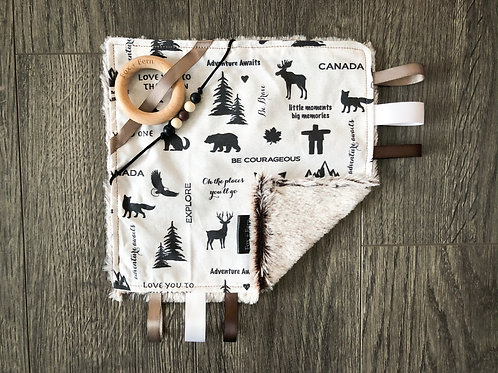 Sensory Taggie Blanket - Canadian Icons w Quotes