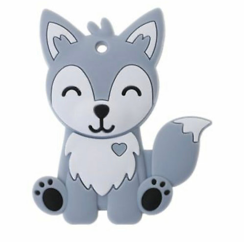 Wolf Husky Teether - Grey