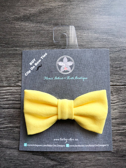 Bow Ties for Boys - Sunshine Yellow