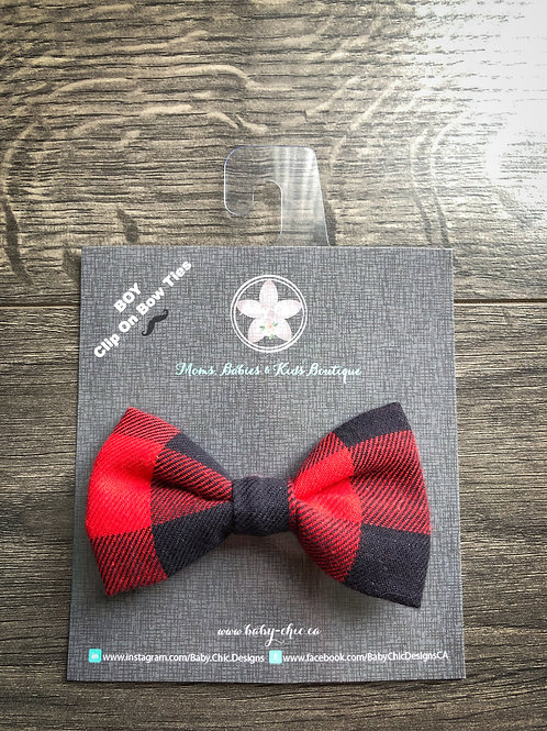 Bow Ties for Boys - Red Buffalo Plaid