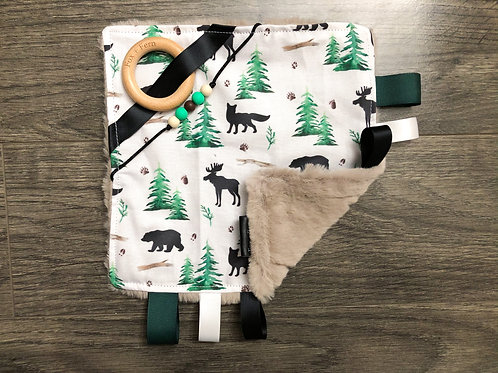 Sensory Taggie Blanket - Woodland Animals