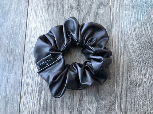 Scrunchie - Black Faux Leather