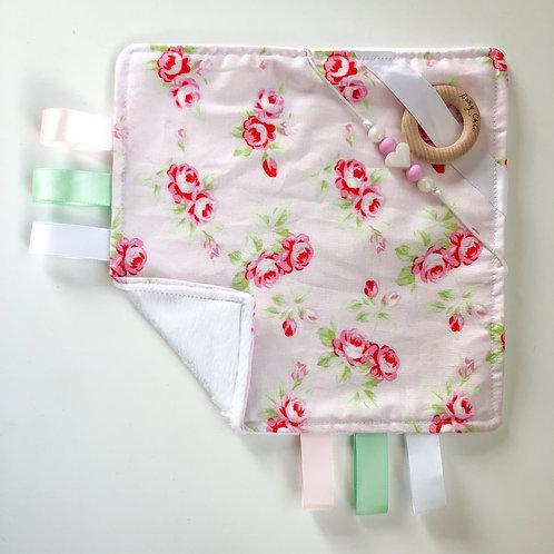 Sensory Taggie Blanket - Pink Rose