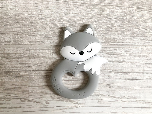 Fox Teether - Grey