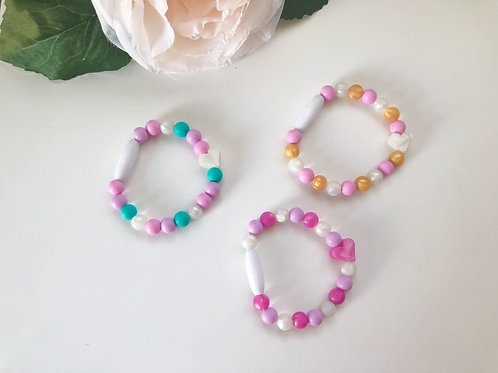 Sister Bracelets with Heart - Toddler/Youth Size